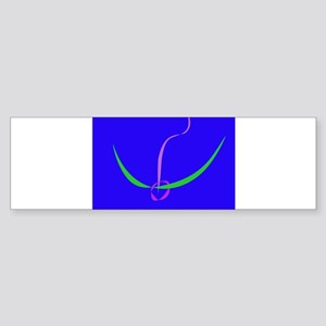 Bow and Arrow Solid Blue Bumper Sticker