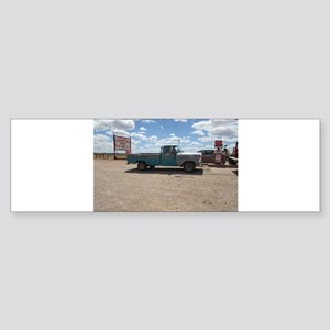 Old Turquoise Truck Bumper Sticker