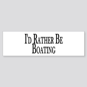 Rather Be Boating Bumper Sticker