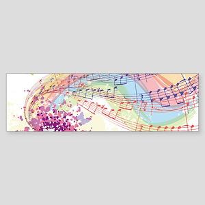 Colorful Music Bumper Sticker