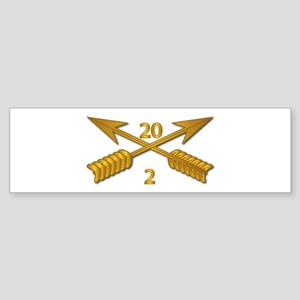 2nd Bn 20th SFG Branch wo Txt Sticker (Bumper)