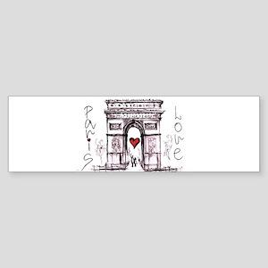 Paris with love Bumper Sticker