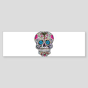 glitter Sugar Skull Bumper Sticker