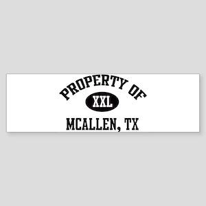 Property of McAllen Bumper Sticker