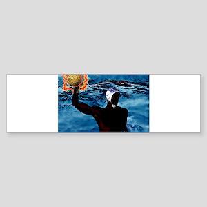 Waterpolo Man Bumper Sticker