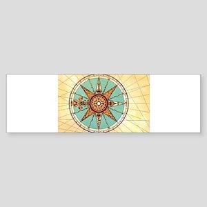 Antique Compass Rose Bumper Sticker