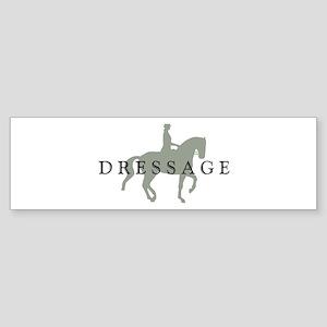 3-piaffe dressage text Bumper Sticker