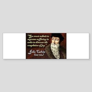 John Calvin Bumper Sticker