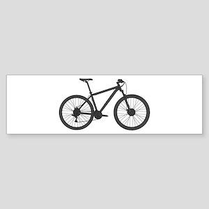 Very Dark Grey Hardtail Bumper Sticker