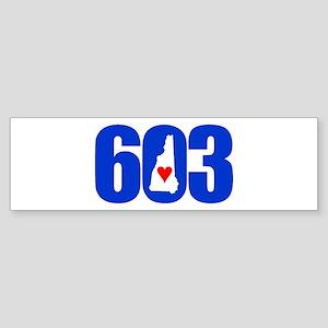 603 NEW HAMPSHIRE LOVE Bumper Sticker