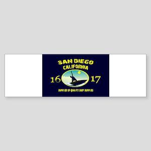 SAN DIEGO CALI SURF SUPPLY 2016 201 Bumper Sticker