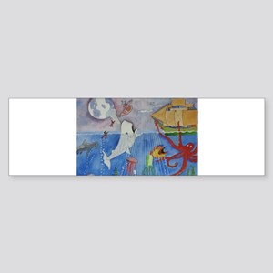 Moby dick &friends Bumper Sticker