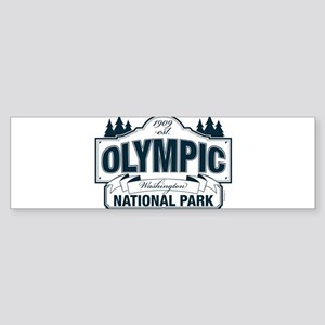 Olympic National Park Blue Sign Sticker (Bumper)
