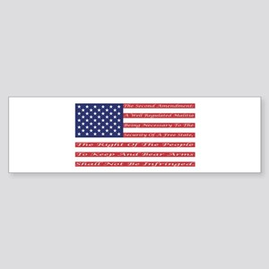 2nd Amendment Flag Bumper Sticker