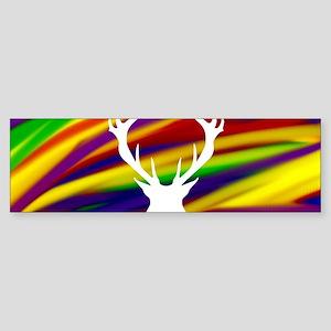 Buck gay rainbow art Bumper Sticker