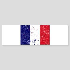 French Flag (Punk) Bumper Sticker