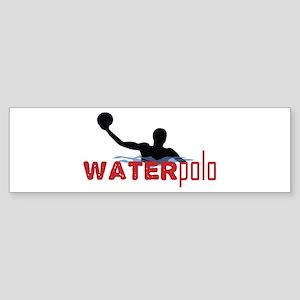 waterpolo silhouette Bumper Sticker