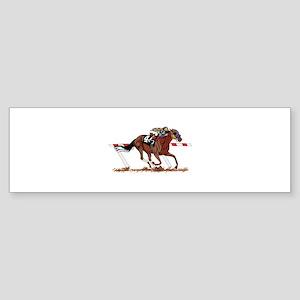 Jockey on Racehorse Bumper Sticker
