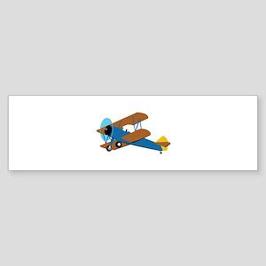 VINTAGE BIPLANE Bumper Sticker