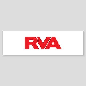 RVA Logo Red Bumper Sticker