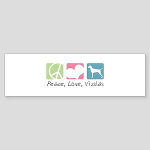 Peace, Love, Vizslas Sticker (Bumper)