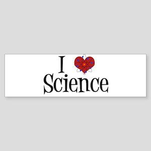 I Love Science Sticker (Bumper)