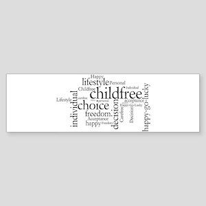 The Childfree Choice Logo Bumper Sticker