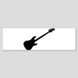 Bass Guitar Silhouette Bumper Sticker