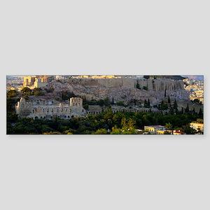 Acropolis view Sticker (Bumper)