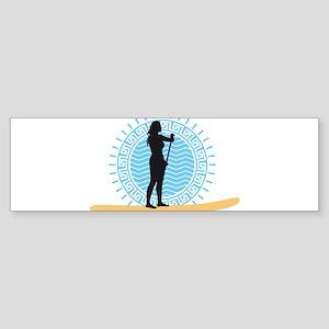 stand up paddling Bumper Sticker