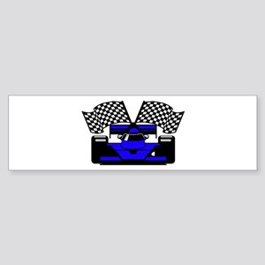 ROYAL BLUE RACE CAR Bumper Sticker