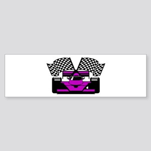 PURPLE RACE CAR Bumper Sticker