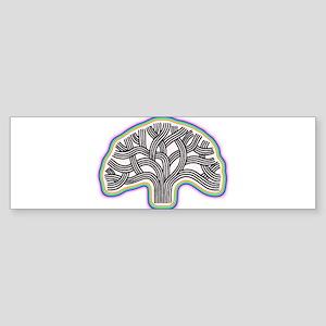 Oakland Tree Rainbow Halo Sticker (Bumper)