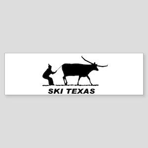 Ski Texas Bumper Sticker