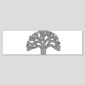 Oakland Tree (light) Sticker (Bumper)