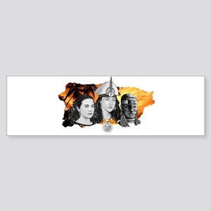 MI RAZA WOMEN WITH BORIKEN Bumper Sticker