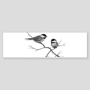 chickadee song bird Bumper Sticker