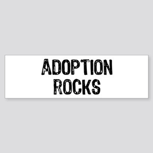 Adoption Rocks Sticker (Bumper)