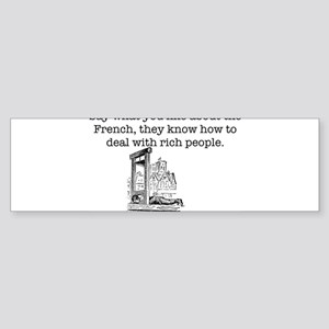 French Rich People Bumper Sticker
