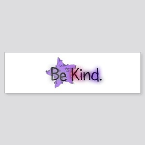 Be Kind with Colorful Text and Purple Star Bumper