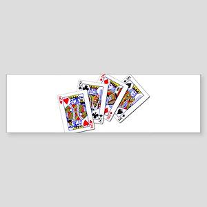 Four Kings Bumper Sticker