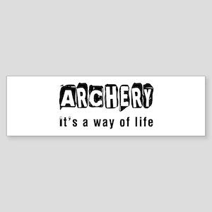 Archery it is a way of life Sticker (Bumper)