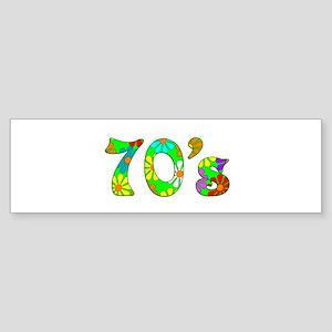 70's Flowers Sticker (Bumper)