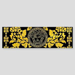 Gold Medusa Bumper Sticker