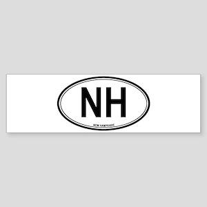 New Hampshire (NH) euro Bumper Sticker