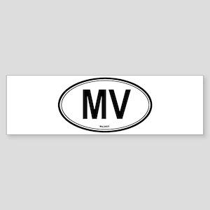 Maldives (MV) euro Bumper Sticker