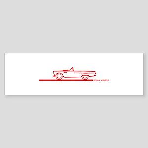 55 T Bird Top Down Red Bumper Sticker