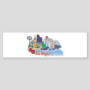 Las Vegas Travel Poster Bumper Sticker