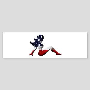 USA Trucker Girl Bumper Sticker