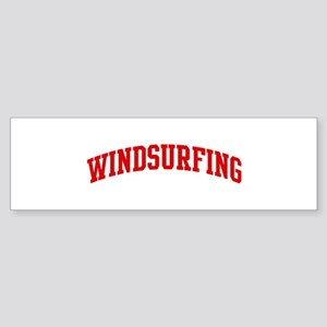Windsurfing (red curve) Bumper Sticker